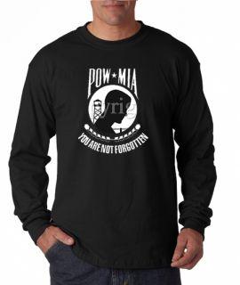 Pow MIA You Are not Forgotten Long Sleeve Tee Shirt