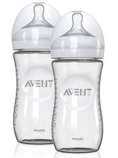 Features of Philips AVENT 8 Ounce Natural Glass Bottles, 2 Pack