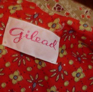 Vintage 70s Gilead Hippie Prairie Print Long Maxi Dress