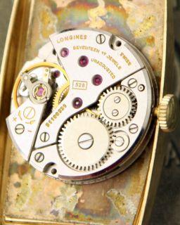 Untouched Vintage 14k Solid Gold Longines Slimline Dress Watch