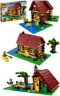 Factory Sealed LEGO Creator 5766 Log Cabin House 3in1 Kayak BBQ kit