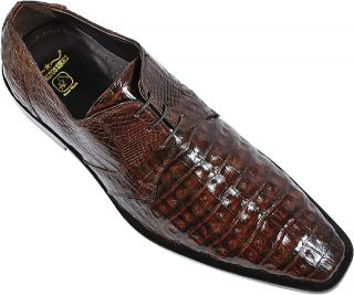 Los Altos Brown Genuine All Over Crocodile Belly Shoes ZV088207 9