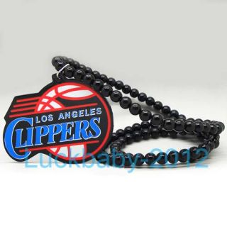 Good Quality Hip Hop Los Angeles Clippers Pendants Wood Rosary Bead