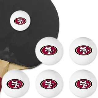 San Francisco 49ers 6 Pack Team Logo Table Tennis Balls
