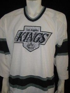 Old School Los Angeles Kings Adult Large NHL Hockey Jersey Stitched