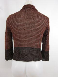 You are bidding on a LORENA ANTONIAZZI Brown Silk Knit Cardigan Sz 40