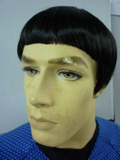 Spock Wig Black Kanekalon Costume Star Halloween Trek