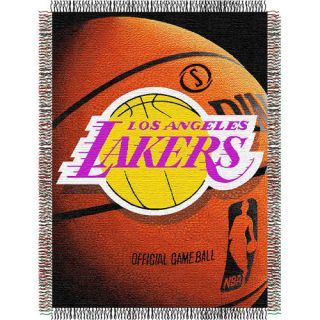Los Angeles Lakers NBA Woven Tapestry 48x60 Throw Blanket