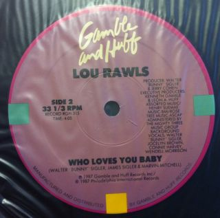 LOU RAWLS when love walked in the floor 12 Mint  GH 315 Vinyl 1987
