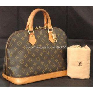 Authentic Louis Vuitton Alma w Lock Key LV Sleeper VI0030 Excellent