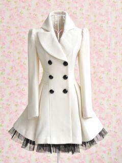 Princess Lolita Cute Sweet Gothic Nana Punk Kera Long Lace White