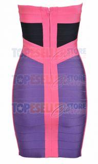 Bandage Dress on Eva Longoria Purple   Pink Bandage Dress Sz Xs S M L Bodycon Cocktail