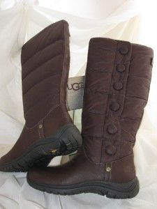 UGG Lonnie Rain Snow Boots US Sz 7 Espresso Brown