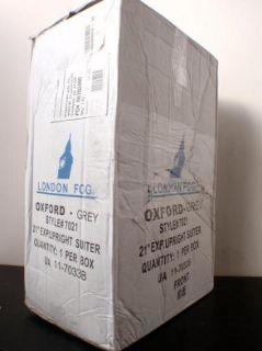 London Fog 7021 Oxford Grey 21 Expandable Upright Luggage