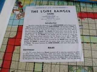 Lone Ranger Game Hi Yo O O O O Silver Parker Bros 1938