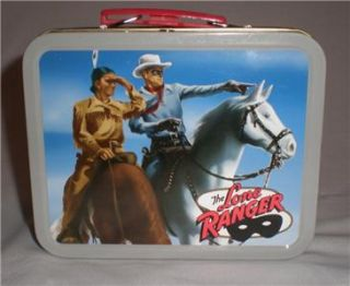 Collectible The Lone Ranger Tin Lunchbox with Cheerios Advertising Ad