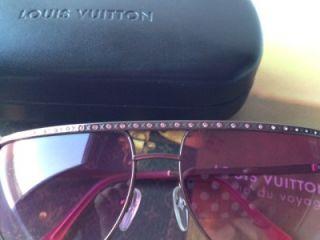 Auth Louis Vuitton Z0230U Alias Rose Pink Rhinestone Sunglasses