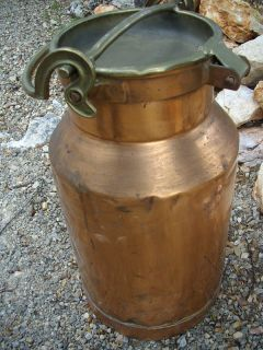 Former Ancient Enormous Antique Copper Milk Can French Copper