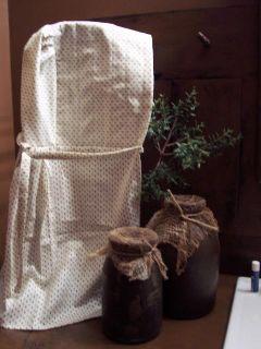 Primitive Early Look Extra Long Prairie Bonnet Cotton Calico