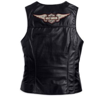 Harley Davidson Womens Classic Leather Vest