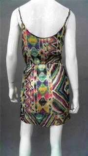 Love Sam Ladies Womens s Sheer A Line Wrap Dress Multi Color Mini