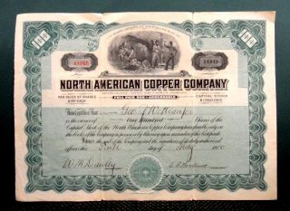 NORTH AMERICAN COPPER COMPANY AZ lordsburg nm MINING STOCK CERTIFICATE