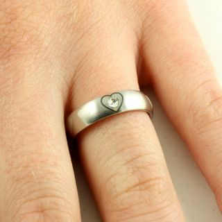 New Girls Stainless Steel Love Is Patient Purity Ring