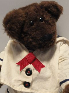 Vintage Handmade Teddy Bear Lonnie St. Martin Signed 1991 12 Dk Brown