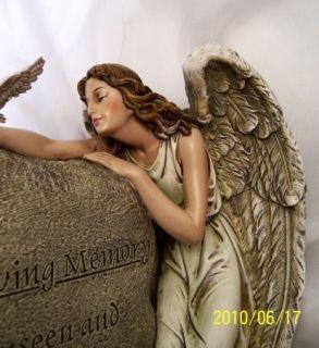 In Loving Memory Guardian Angel Memorial Garden Stone