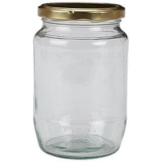 Kitchen Craft Round glass jam jar