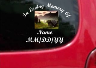 Personalized in Loving Memory Decal with Picture
