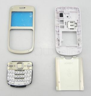 New White gold full Housing Cover+ Keypad for Nokia C3 To Replace