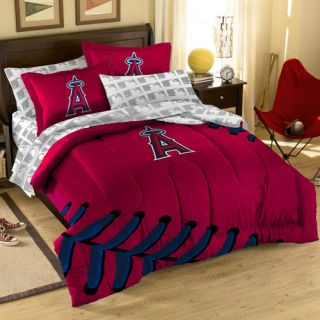 Los Angeles Angels of Anaheim 7 Piece Full Size Bedding Set Full