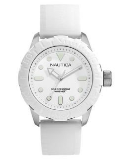 Nautica Watch, White Silicone Strap 44mm N09603G   All Watches