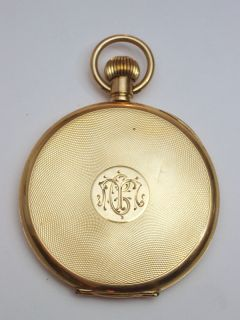 Vintage Omega Open Face 18K Gold Watch Circa 1912