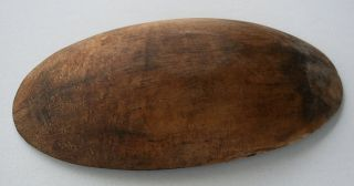 Antique, hand made primitive wooden trencher dough bowl, c1800s . 17
