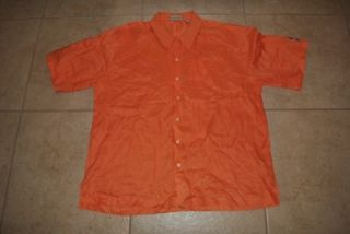 Cutter and Buck Short Sleeve Shirt Button Front Linen Florida uf