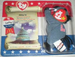 McDonalds Ty Beanie Baby Lefty The Donkey