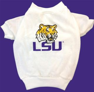 New LSU Tigers Dog Shirt NCAA Pet Sports Apparel Football Team Tee All