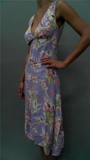 Lucy Love Junior s Floral Print A Line Casual Dress Light Purple Pink