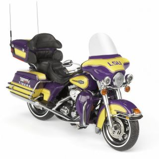 LSU Tigers Football Harley Davidson Diecast Motorcycle 1 12 Christmas