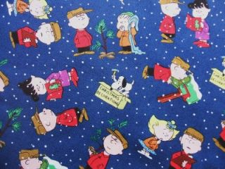 Charlie Brown Christmas Time Peanuts Lucy Linus Quilting Treasures