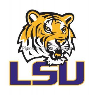 LSU Tigers Logo Edible Image Icing Cake Cupcaketopper Look