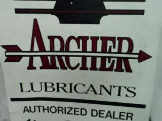 Archer Lubricants Gas or Oil Metal Sign