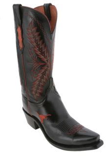 Lucchese Black University of Texas NCAA Womens Cowboy Boots