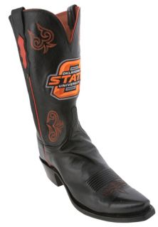 Lucchese Black Oklahoma State University Womens Cowboy Boots