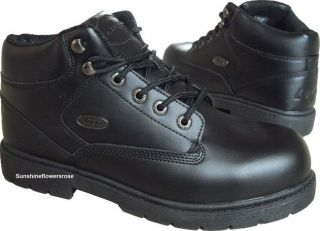 Lugz Zone Hi SR $70 Mens Black Leather Slip Resistant Work Boot