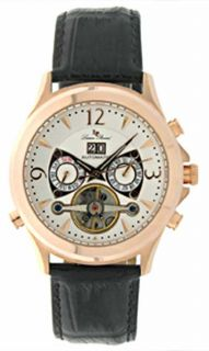 Lucien Piccard Automatic Rose Gold Plated Date Watch