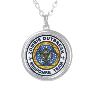 Oklahoma Zombie Outbreak Response Team Necklaces