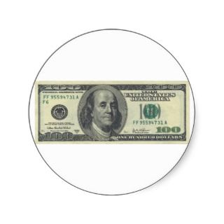One Hundred Dollar Bill Series 2003 A Sticker